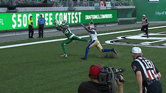 Must See: Glenn, Holley hook up for first TD in new Mosaic Stadium