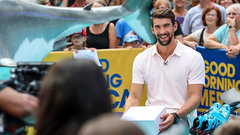 Phelps recalls first encounter with sharks