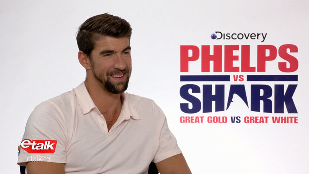 Phelps discusses his love of sharks, highly anticipated Great White race