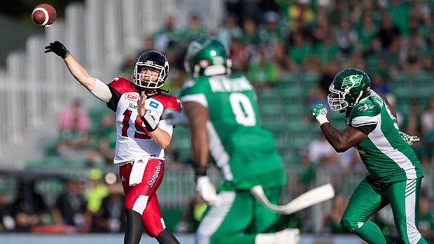 Who has advantage in pivotal Stamps/Riders clash?