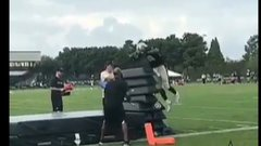 Must See: AP shows off his insane leaping ability