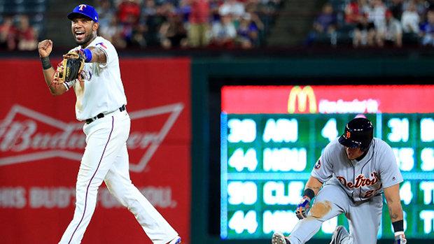 MLB: Tigers 6, Rangers 12