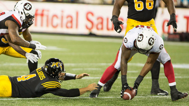 CFL: Redblacks 37, Tiger-Cats 18