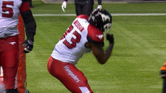 Jerome Messam punches it in to put the Stamps on top