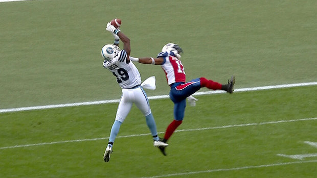 CFL Must See: Green makes spectacular catch over defender, scores again
