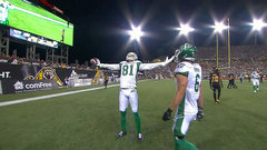 Grant wide open for Riders' second score