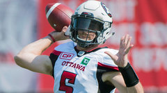 Redblacks' QB Tate unlikely to play this week