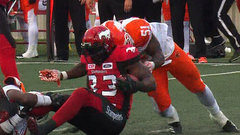 Messam not concussed; Lions LB Awe fined