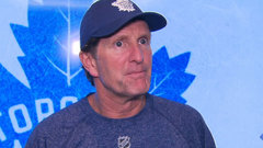 Babcock discusses Matthews and Marleau together on power play