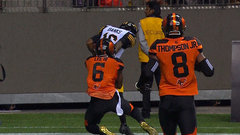 Banks' fourth TD opens the scoring for the Tiger-Cats