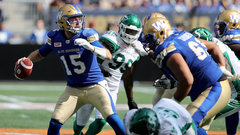 CFL: Roughriders 28, Blue Bombers 48
