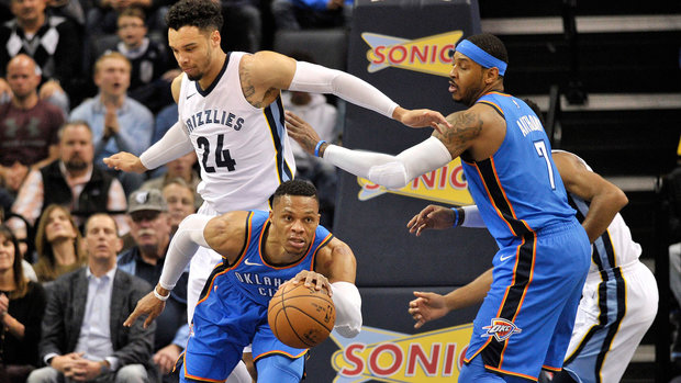 NBA: Thunder 102, Grizzlies 101 (OT)