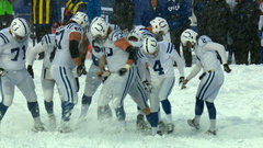 Must See: Vinatieri curls in 43-yard extra point in a foot of snow