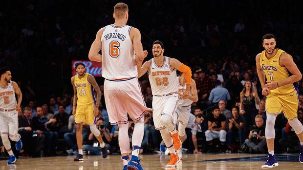 Porzingis, Beasley help Knicks edge Lakers in OT
