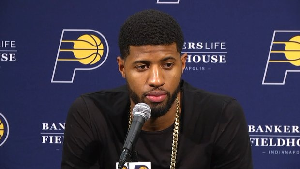 George throws shade at Pacers' fans