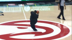 Must See: Hawks fan nails half-court heave