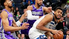 NBA: Kings 96, Timberwolves 119