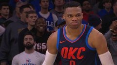 Must See: Westbrook mean mugs after his monster slam