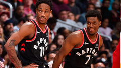 Another vintage performance from the Raps' dynamic duo