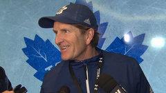 Leafs happy to see Matthews progress, unsure of return