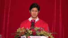 Ohtani: I'm nowhere near Babe Ruth