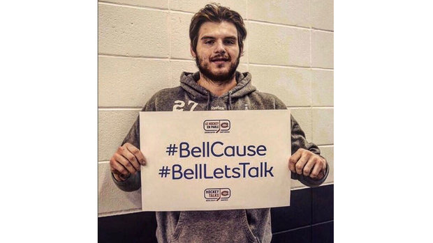 Athletes from across North America show support for Bell Let's Talk Day