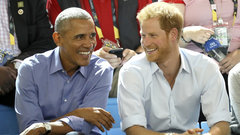 Invictus athletes try sledge hockey; Obama cheers on USA