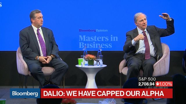 Bridgewater's Dalio Expects Low Returns for a 'Very, Very