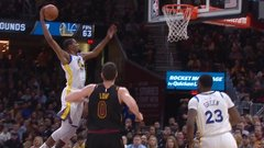 Must See: LeBron clears way for Durant's monster dunk