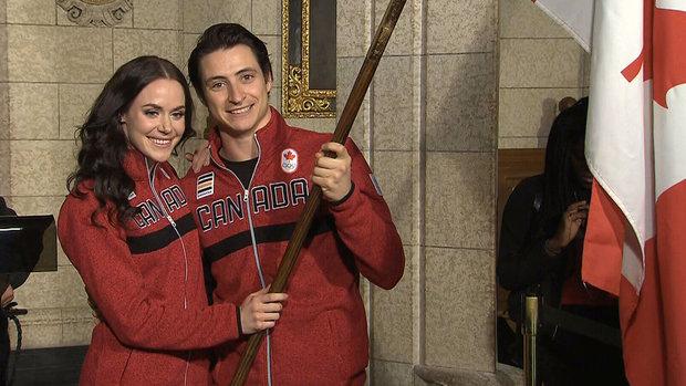 Virtue and Moir named Team Canada flag bearers