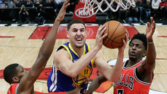 NBA: Warriors 119, Bulls 112
