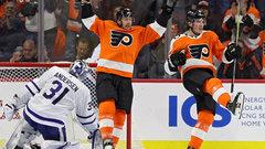 NHL: Maple Leafs 2, Flyers 3 (OT)