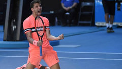 Dimitrov earns a spot in last 16 at Aussie Open