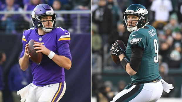 Who has the edge between Keenum and Foles?