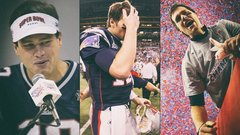 Brady's ever-changing Super Bowl looks