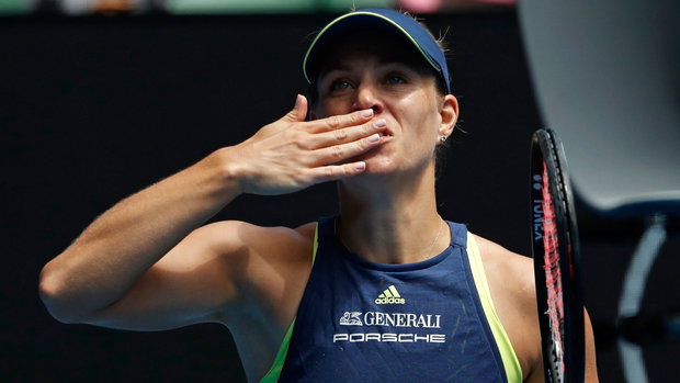 Kerber makes quick work of Keys to reach semis