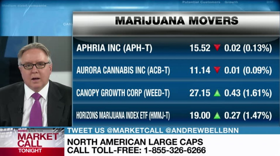 Zachary Curry discusses Aphria, Canopy and Aurora Cannabis - Video - BNN