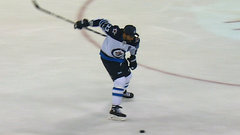 Must See: Byfuglien shows off one-handed slapshot at Jets skills competition