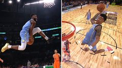 Brown, Collins rise up for unbelievable dunks