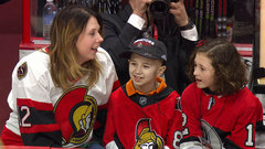 Myla Fransky and Aiden Verk's true friendship on display at Sens game
