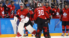 Who will start in net for Canada against Germany?