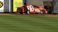 Must See: Car on field delays Spring Training game