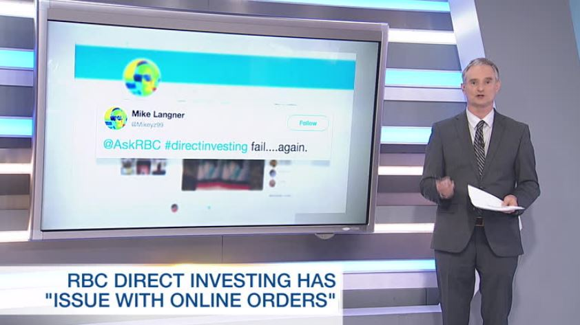 RBC Direct Investing experiencing 'issue with online orders