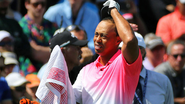 First swing set the tone for an 'average' round from Tiger