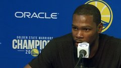 Durant says his ribs hurt when he laughs