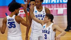 NCAA: (7) Rhode Island 62, (2) Duke 87
