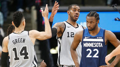 NBA: Timberwolves 101, Spurs 117