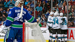 NHL: Sharks 5, Canucks 3