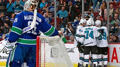 NHL: Sharks 5, Canucks 3