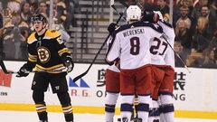 NHL: Blue Jackets 5, Bruins 4 (OT)